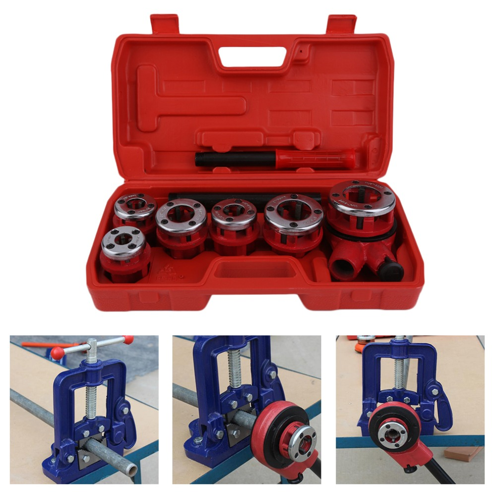 Manual Handheld Portable Wire Twisting Machine Hinge Plate Ratchet Dies Stocks Set Electric Pipe Threader Accessories Tap die professional welding wire feeder 24v wire feed assembly 0 8 1 0mm 03 04 detault wire feeder mig mag welding machine ssj 18