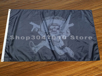 3x5 Флаг черепа с пистолетом баннер
