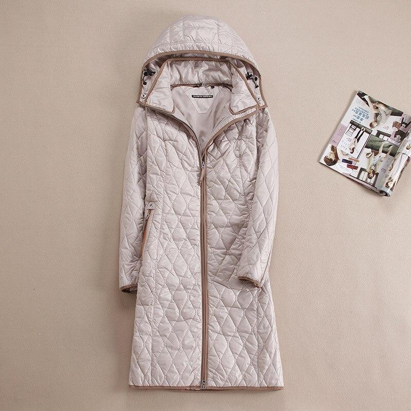 DHfinery automne hiver femmes manteau Longue conception avec un survêtement de capot plus la taille 48-58 Pour Europe Russie bleu, kaki et beige manteau