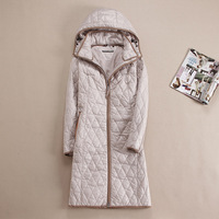 DHfinery autumn winter women coat Long design with a hood outerwear plus size 48 58 For Europe Russia blue,Khaki and beige coat