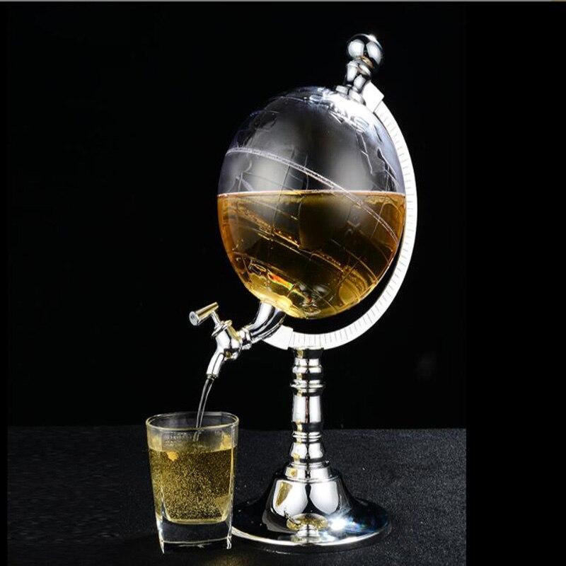 Wine Decanter For Whiskey/ Scotch/Spirits/Vodka /Red Wine 1500ML World Globe Wine Accessories