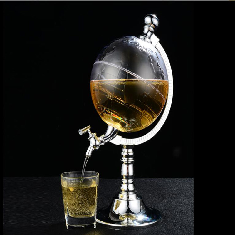 Wine Decanter For Whiskey/ Scotch/Spirits/Vodka /Red Wine 1500ML World Globe Wine Accessories image