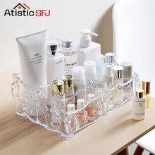 Large Capacity Storage Organizer Clear Acrylic Makeup Organizer Vintage Bathroom  Cosmetic Storage Box Makeup Display Case