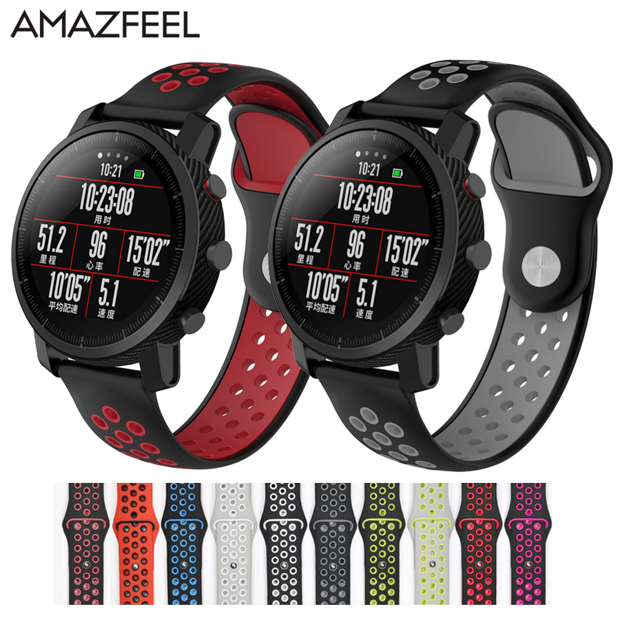 17 Colors Silicone Amazfit Pace Watchband Replace for Xiaomi Huami Amazfit Band Bracelet Huami Amazfit Stratos Wrist Strap 22mm17 Colors Silicone Amazfit Pace Watchband Replace for Xiaomi Huami Amazfit Band Bracelet Huami Amazfit Stratos Wrist Strap 22mm