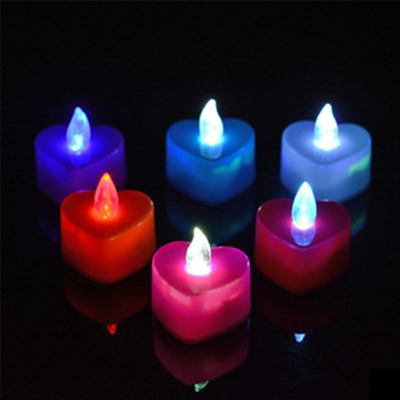 1 pcs LED candle Multicolor Lamp Simulation Color Flame Colorful lamp Parties and birthdays
