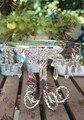 1 peças/lote Diâmetro de 12 polegadas de Alta de 8 polegadas Garra Conjunto Sobremesa Carrinho Do Bolo de Casamento Bolo de Sobremesa Bandeja Rack Foco Prata