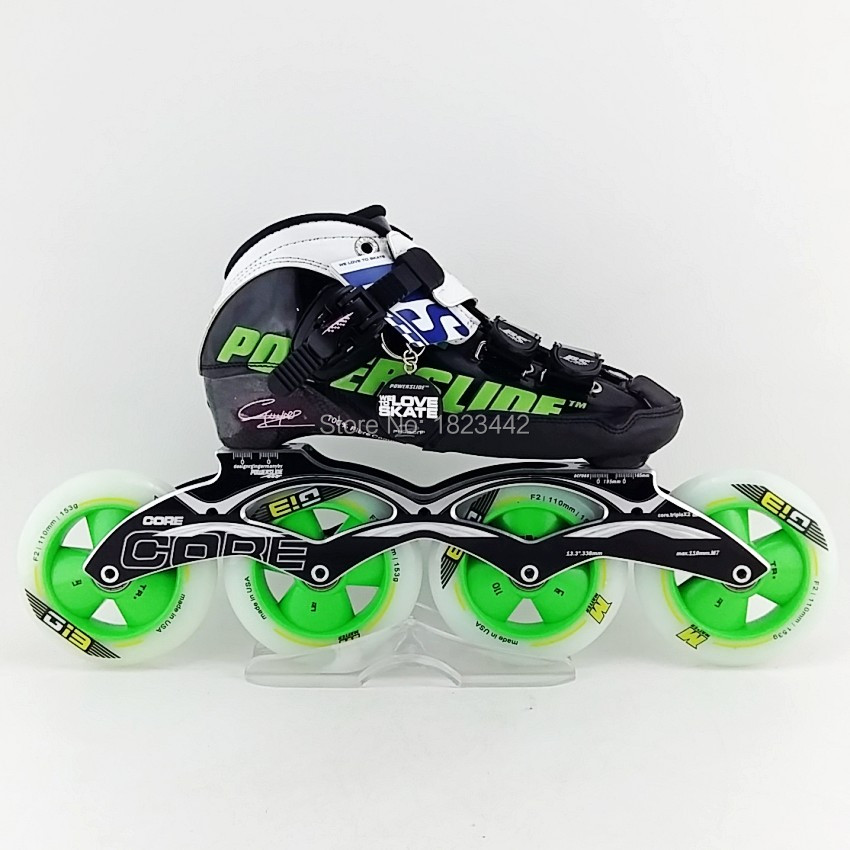 Original Powerslide C6 Speed Skating Shoes,Adult / Kids Professional Roller Skates With Matter G13 Inline Skates Wheels 2015 New adult s roller skates inline skating f2 2013 white and black flying eagle f2