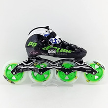 Original Powerslide C6 Speed Skating Shoes,Adult / Kids Professional Roller Skates With Matter G13 Inline Skates Wheels 2015 New