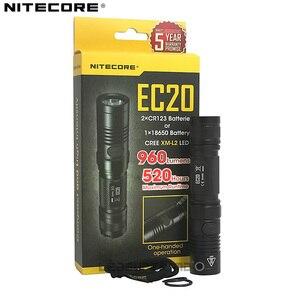Image 2 - 5 jahr Garantie NITECORE EC20 960 Lumen Helle LED Unterwasser Taschenlampe Tragbare Licht mit 18650 Batterie