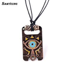 Samyeung Fashion Legend of Zelda Necklace for Best Friends Wild Rope Chain Eyes Necklace Zelda Man Anime Women Jewelry Collier