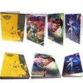 2017 colección Pikachu tarjetas de Pokemon álbum lista de los mejores cargados jugando pokemon tarjetas titular álbum juguetes para regalo novedoso