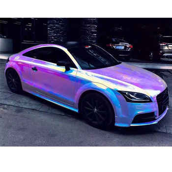 White Backing Holographic Lettering Film Rainbow Neo Chrome Car Vinyl Wrap Bubble Free Sticker DIY Decor Film With Size 138x50cm