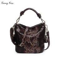 Tonny Kizz luxury handbags women designer tote bags leather bucket shoulder bags serpentine with tassel small crossbody bags