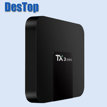 TX3 Mini boîte de télévision 5 pièces/lot TX3 MINI boîte de télévision Android 8.1 Amlogic S905W KD 17.3 1GB 8GB TX3 Mini boîte de télévision 5 pièces avec DHL