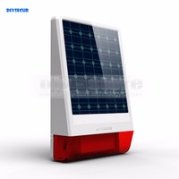DIYSECUR Waterproof Wireless Outdoor Big Strobe Solar Powered Siren Alarm LED Flashing For Home Alarm System