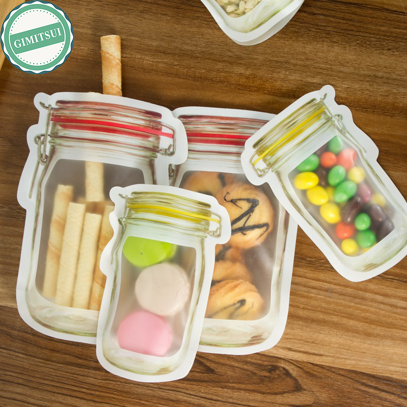 Cool storage stand up bag with zip lock