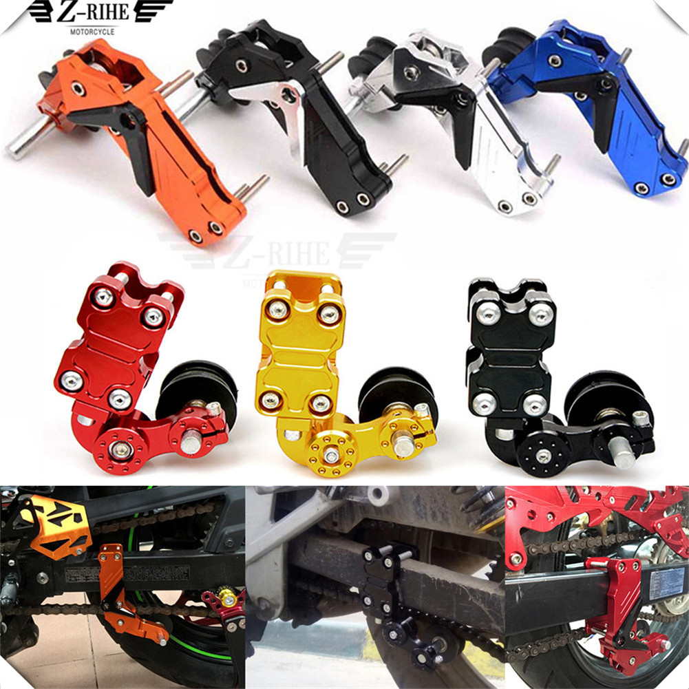 motorcycle Aluminum Chain Tensioner Chain adjuster Bolt on Roller Adjust FOR YAMAHA YZF R15 XT660 X R Z TMAX 500 530 TMAX500 530 bjmoto for kawasaki z900 2017 motorcycle chain adjuster z 900 tensioner catena rear axle spindle chain adjuster parts