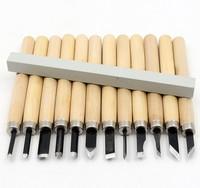 12 Drewniane Kuter Drewna Rzeźba Rzeźba Narzędzia Do Obróbki Drewna Drewniane Nóż Handmade Gumowa Naszywka Nóż z Szlifowania Kamienia Zestaw