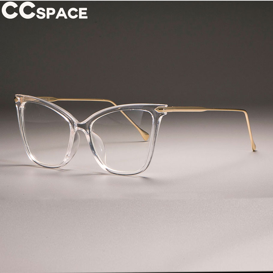 59c0287cb7bcd 2018 Transparent Frame Cat Eye Glasses Frames Women Sexy Retro CCSPACE 2018 Brand  Designer Optical Fashion Computer Glasses-in Eyewear Frames from Apparel ...