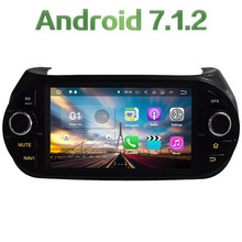 GPS Navi Android 7.1.2 Quad Core 2GB RAM Wifi Car DVD radio for Fiat Fiorino 2008 2009 2010 2011 2012 2013 2014 2015 2016 2017