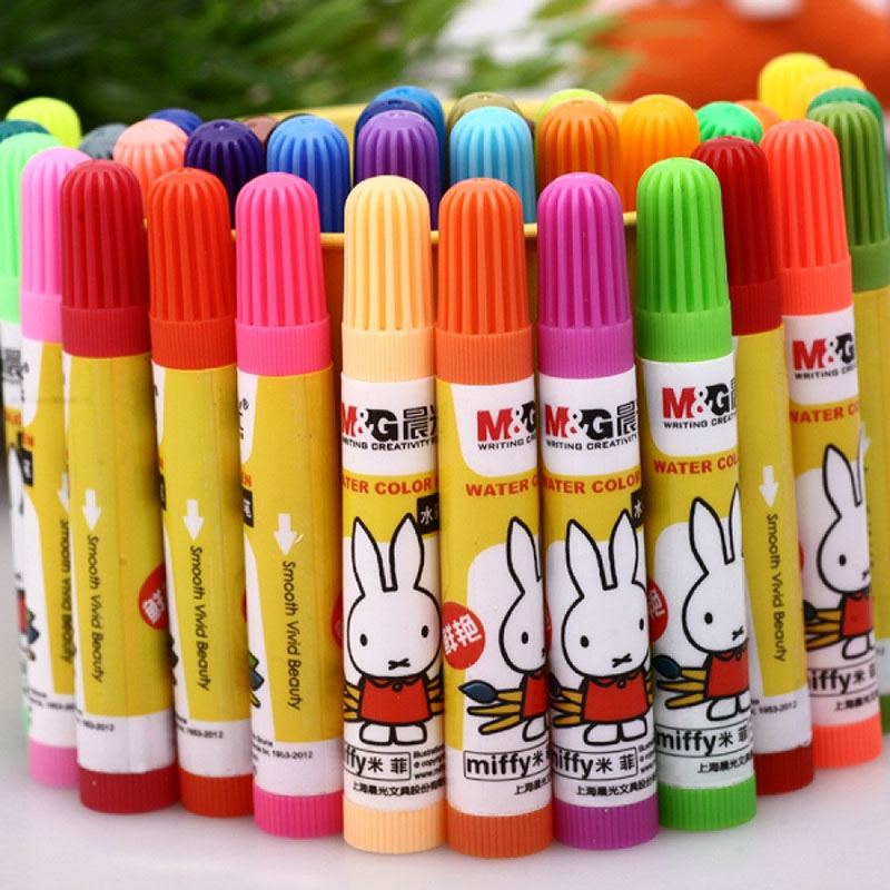 MG 36 Miffy Water Colour Pen Creative Stationery Fresh Watercolor multicolor for office and school Washable Smooth Vivid Beauty jessica phenom цветное покрытие vivid colour exquisite 36 15 мл
