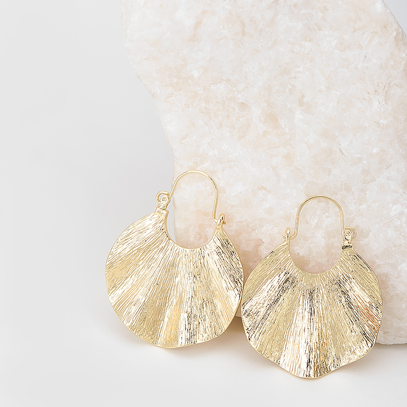 Wanita Trendy Gaya Emas Geometris Bentuk drop Earrings Vintage Zinc - Perhiasan fashion - Foto 6