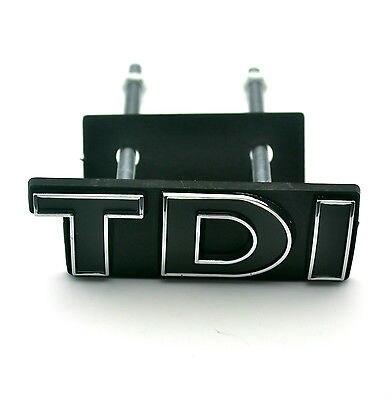 1 PCS Noir TDI Emblème De Voiture Grille Montage Lettrage Badge pour Golf Touareg MK4 Voiture Style