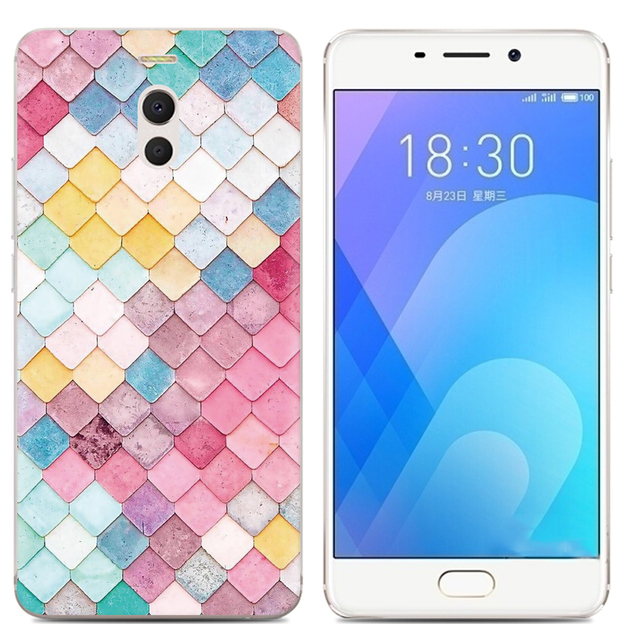 Drop Shipping TPU Soft Phone Case for Meizu M6 Note 6 5.5-inch Fashion Pattern Colorful Painted 3