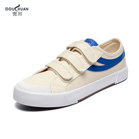OLOME 2019 new style Canvas Shoes Korean Version Men's Shoes Flat Casual Small White Shoes off spring summer sport