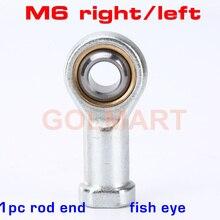 1 шт. M6 отверстие 6 мм метрический рыбий глаз стержень концы подшипника SI6T/K внутренняя резьба шаровой шарнир подшипник автомобильный амортизатор колеблющийся правая левая рука