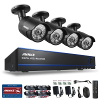 SANNCE 4CH 1080P Surveillance AHD DVR Kits 4PCS 2 0MP 3000TVL IR Night Vision Waterproof Security