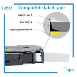 7pk 12mm Tz 231 Tze231 czarny na białym kompatybilny P dotykowy tze-231 etykiety kaseta z taśmą z DHL wysyłka