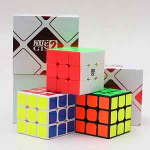 Image 4 - En iyi MoYu Weilong GTS V2 M manyetik 3x3x3 GTS2M sihirli küp profesyonel WCA GTS2 M 3x3 küp hızlı magico cubo eğitici oyuncak