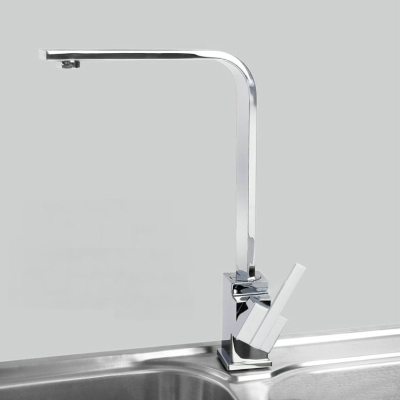 Freeshipping New single handle for the bathroom Beautiful square swivel kitchen faucet mixer tap G 8053