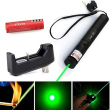 Promo offer Military Zoomable Focus Burning Green Laser Pointer Pen 303+ Battery + Charger