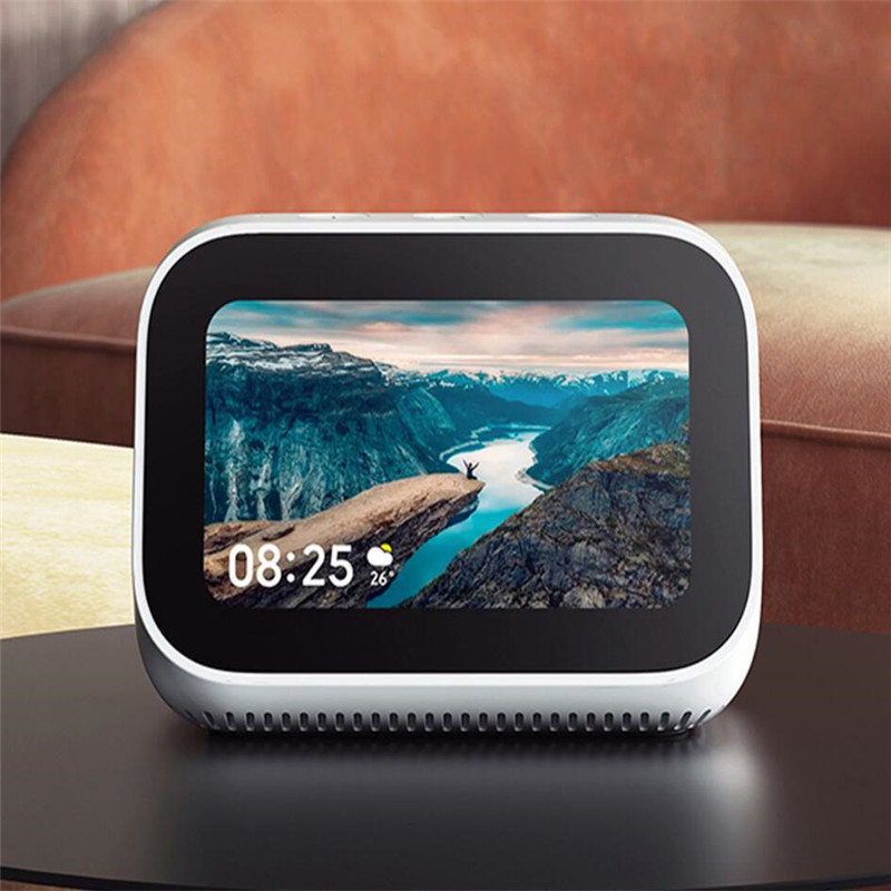 Original Xiaomi AI Touch Screen Bluetooth 5 0 Speaker Digital Display Alarm Clock WiFi Smart Connection Speaker Mi speaker in Smart Remote Control from Consumer Electronics