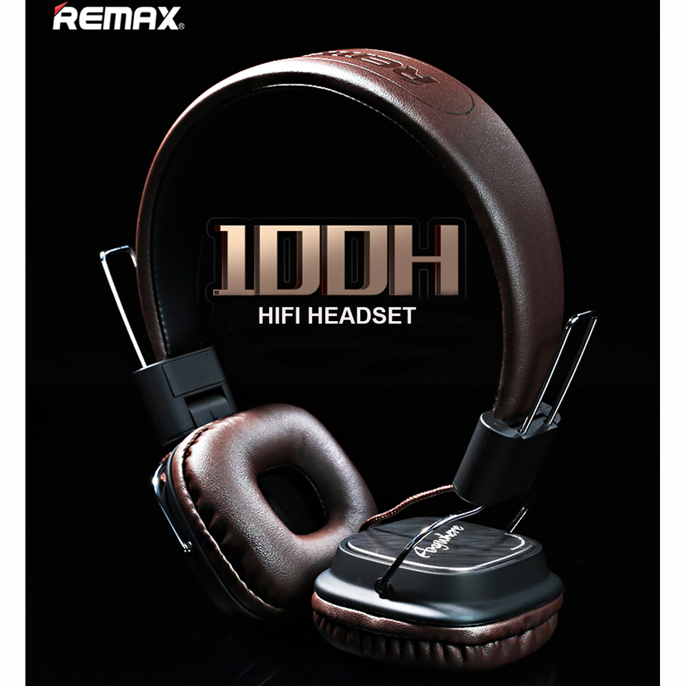 Remax RM-100H High Compatibility HiFi sound Headphone Stereo Music Earphone with Mic Headset Headband Type Smart Noise Reduction