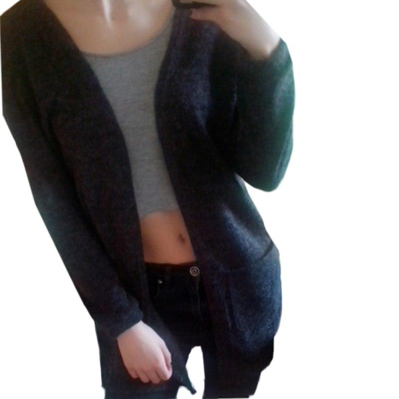Knitted Sweater Cardigan Women Winter Loose Casual Outwear Long Sleeve Jacket Coat