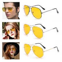 Auto Gelb Objektiv UV400 Anti Eklatante Nachtsicht Fahr Gläser Fahrer Sicherheit Sonnenbrille Auge Tragen Goggle für Ford VW BMW