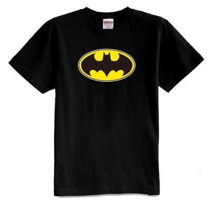 De los niños del verano de manga corta 100% algodón batman camiseta de niño y niña camisetas