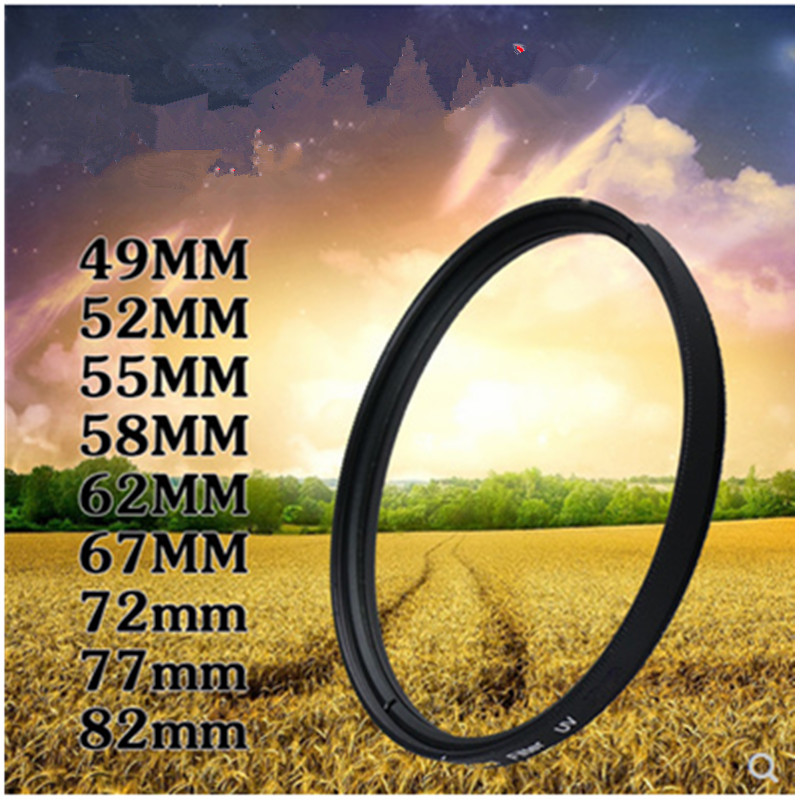 RISE (UK) Camera Filter 49mm/52mm/55mm/58mm/62mm/67mm/72mm/77mm/82mm UV Filter For Sony Nikon D5300 Canon  Camera