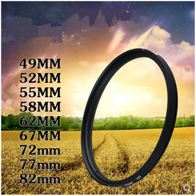 RISE (UK) máy ảnh Bộ Lọc 49 mét/52 mét/55 mét/58 mét/62 mét/67 mét/ 72 mét/77 mét/82 mét UV Lọc đối với Sony Nikon d5300 Máy Ảnh Canon