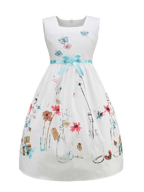 922f38064e2 hot girls dress children s clothing white strap dress Students wear fashion  pleated dress silk Leisure dress