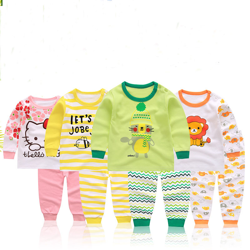 Fashion cartoon New baby clothes set cotton baby girls/ boys clothes long sleeve cotton newborn suits baby clothing 2pcs retail