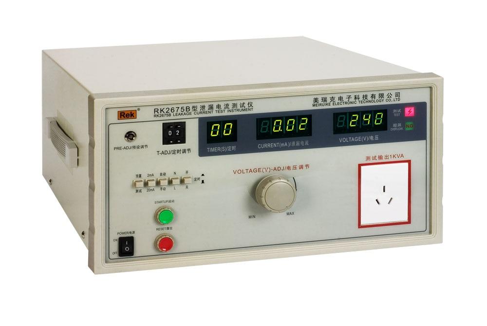 Rek 1000VA AC 250 V 2/20mA Desktop lekstroom tester meter RK2675B met LED Digitale display