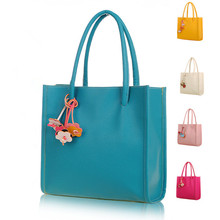 Shengxilu Candy Color Women Handbags 2018 Ladies Leather Brand Shoulder Bag Flowers Girls Totes High Quality Designer Women Bags