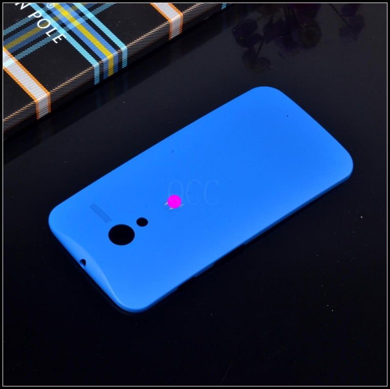 Retail hybrid original protective shell battery housing door back cover For Motorola Moto x xt1055 phone bags case with 20 color