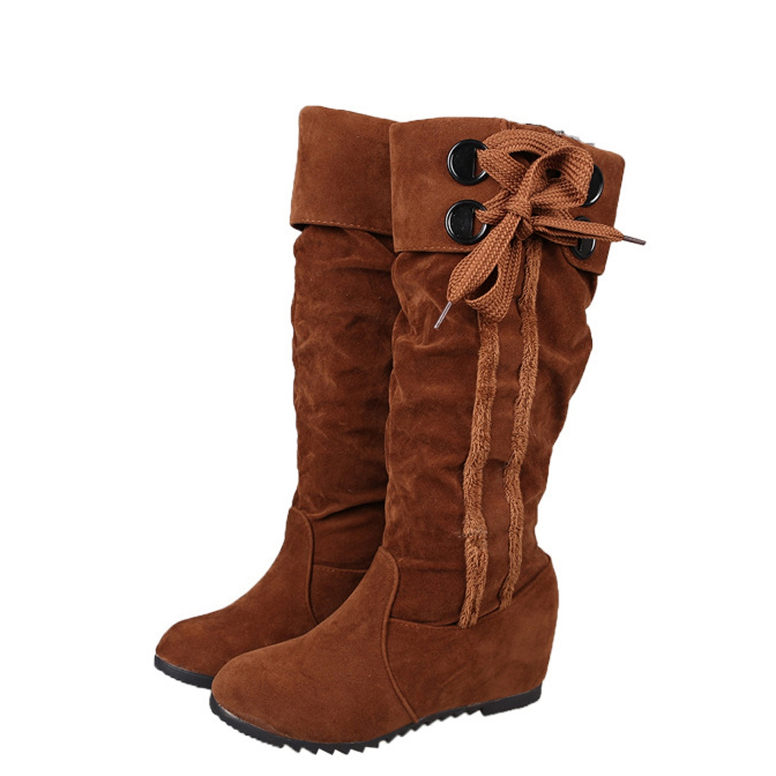 Online Get Cheap Brown Suede Knee High Boots -Aliexpress.com ...