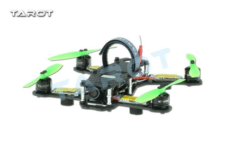 Tarot TL130H1 RTF Mini Racing Drone Alien 130 Quadcopter Carbon Fiber Frame with Controller Motor ESC Prop FPV Parts F17840 carbon fiber mini 250 rc quadcopter frame mt1806 2280kv brushless motor for drone helicopter remote control