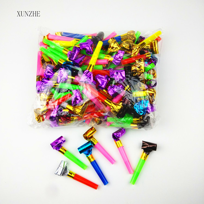 20PCS6.5cm Birthday Party MultiColor Party Blowouts Whistles Kids Favors Decoration Supplies Noice Maker Toys Goody Bags Pinata